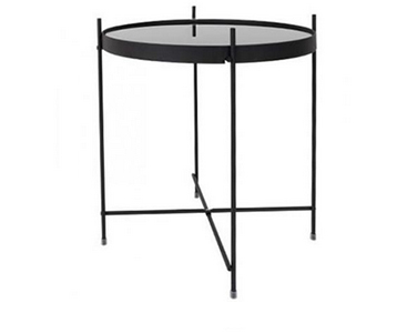 table basse ronde cuivre