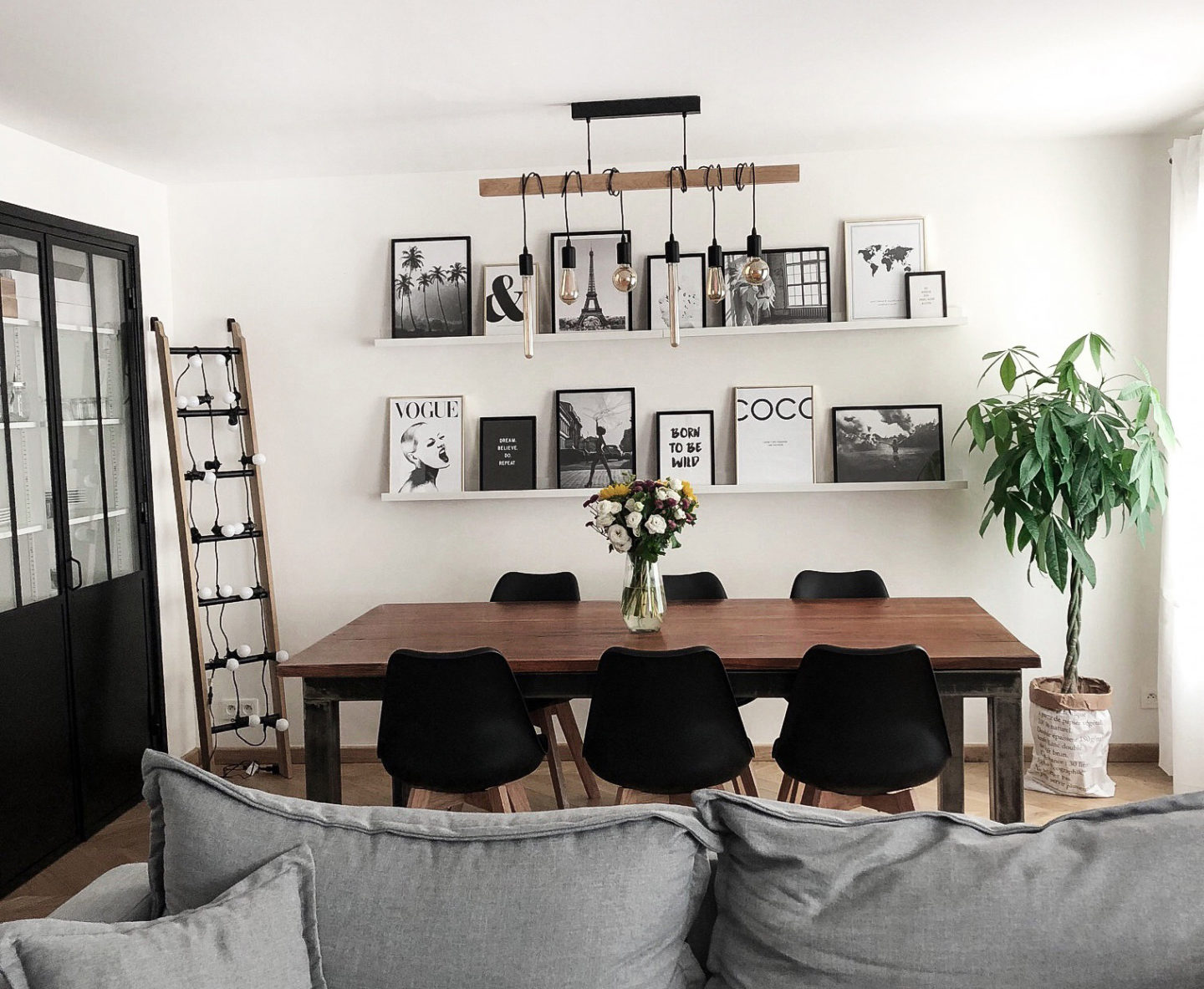 blog deco salle manger industrielle scandinave. Black Bedroom Furniture Sets. Home Design Ideas