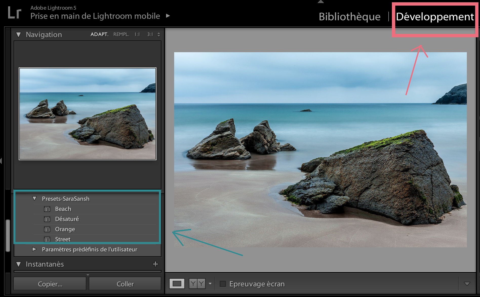 comment enregistrer presets lightroom